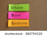 irritable bowel syndrome text... | Shutterstock . vector #383754220