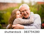 authentic photo of smiling... | Shutterstock . vector #383754280
