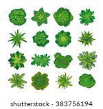 trees  top view. easy to use in ... | Shutterstock .eps vector #383756194