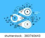flat style  thin line art... | Shutterstock .eps vector #383760643