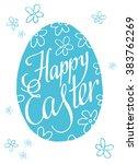 lettering happy easter. easter... | Shutterstock .eps vector #383762269