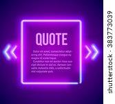 retro hipster neon glowing... | Shutterstock .eps vector #383773039