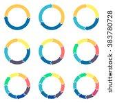 circular infographics. thin... | Shutterstock .eps vector #383780728
