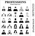 professions 25 icons set for... | Shutterstock .eps vector #383781523