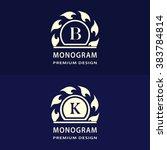 monogram design elements... | Shutterstock .eps vector #383784814