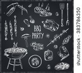 vector hand drawn set with... | Shutterstock .eps vector #383786350