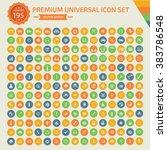 195 premium universal icon set... | Shutterstock .eps vector #383786548