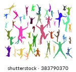 bright idea big group  | Shutterstock .eps vector #383790370