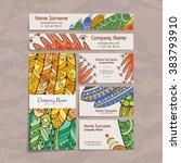 set of vector design templates. ... | Shutterstock .eps vector #383793910