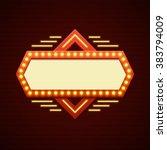 retro showtime sign design.... | Shutterstock .eps vector #383794009