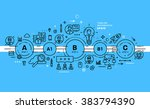 flat style  thin line art... | Shutterstock .eps vector #383794390