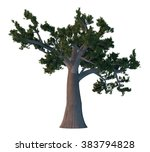 pine tree isolated on white | Shutterstock . vector #383794828