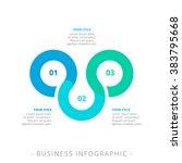 three step process chart... | Shutterstock .eps vector #383795668