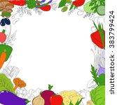 set of healthy vegetarian food. ... | Shutterstock . vector #383799424