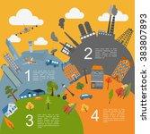 cityscape conceptual graphic... | Shutterstock .eps vector #383807893