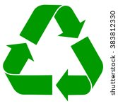 recycle symbol   isolated green ... | Shutterstock .eps vector #383812330