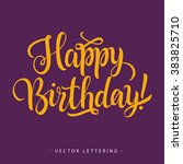 happy birthday inscription 2   Shutterstock .eps vector #383825710