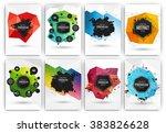 poster or flyer design template ... | Shutterstock .eps vector #383826628