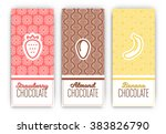 chocolate packaging set  ... | Shutterstock .eps vector #383826790