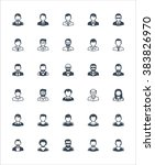 men avatars icons | Shutterstock .eps vector #383826970