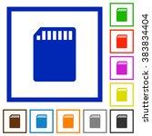 set of color square framed sd...