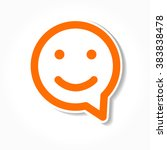 happy smile   face chat speech... | Shutterstock . vector #383838478