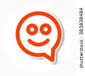 happy smile   face chat speech... | Shutterstock . vector #383838484