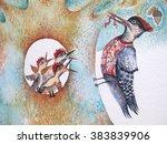 original bright background... | Shutterstock . vector #383839906