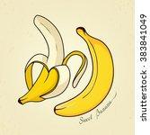 cute banana. vector illustration   Shutterstock .eps vector #383841049