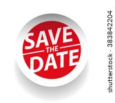 save the date vector | Shutterstock .eps vector #383842204