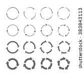 set of grey circle vector... | Shutterstock .eps vector #383843113