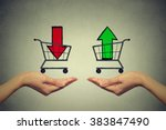 buy or cell concept. stock... | Shutterstock . vector #383847490