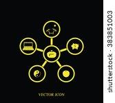 infographic template. family... | Shutterstock .eps vector #383851003
