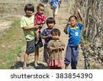 nyaungshwe  myanmar   circa...   Shutterstock . vector #383854390