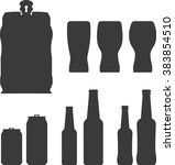glass  bottle  can  draft keg... | Shutterstock .eps vector #383854510