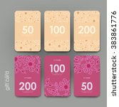 gift coupon  discount card...   Shutterstock .eps vector #383861776