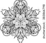 Image Of Mandala Made Of Flora...