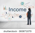 income salary sales return...   Shutterstock . vector #383871070