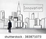 innovation innovate invention... | Shutterstock . vector #383871073
