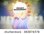 holding light bulb with project ...   Shutterstock . vector #383876578