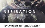 inspiration aspiration... | Shutterstock . vector #383893354