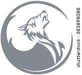 howling wolf | Shutterstock .eps vector #383898088