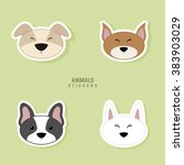 cute dogs face | Shutterstock .eps vector #383903029