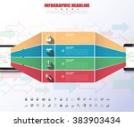 timeline infographics with... | Shutterstock .eps vector #383903434