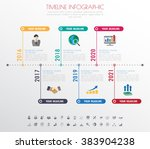 timeline infographics with... | Shutterstock .eps vector #383904238