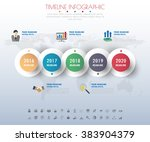 timeline infographics with... | Shutterstock .eps vector #383904379