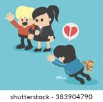 penalty of obesity  lady not... | Shutterstock .eps vector #383904790