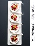 tuna tataki is a japanese dish... | Shutterstock . vector #383910610