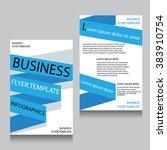 vector brochure flyer design... | Shutterstock .eps vector #383910754