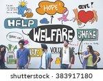 welfare support benefit payment ... | Shutterstock . vector #383917180